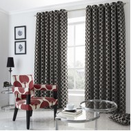 Oh Black Eyelet Curtains